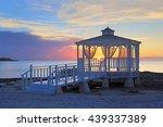 Wedding Gazebo At Sunset