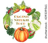 hand drawn banner of natural... | Shutterstock . vector #439339561