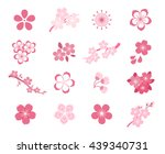 set of cherry blossom japanese... | Shutterstock .eps vector #439340731