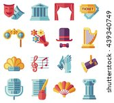 set of theatre acting... | Shutterstock .eps vector #439340749