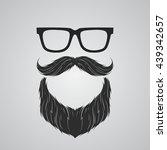 beard  mustache and glasses | Shutterstock .eps vector #439342657