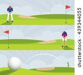 golf course banner  men and...   Shutterstock .eps vector #439344055
