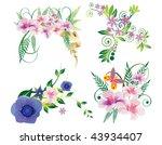 floral elements for design | Shutterstock .eps vector #43934407