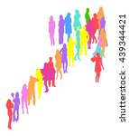 many people illustration  arrow | Shutterstock .eps vector #439344421