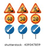 set of 3 signs  isolated on...   Shutterstock .eps vector #439347859
