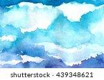watercolor clouds | Shutterstock . vector #439348621