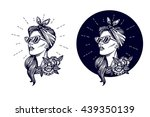 vector hipster logo. label ...   Shutterstock .eps vector #439350139