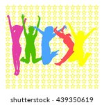 victory is ours together we... | Shutterstock .eps vector #439350619