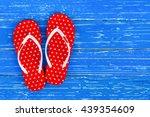 summer holiday background ... | Shutterstock . vector #439354609