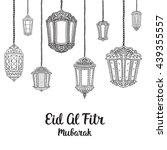 eid mubarak vector card.... | Shutterstock .eps vector #439355557