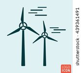 windmill icon isolated. wind...