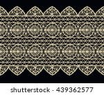 isolated crocheted lace border... | Shutterstock .eps vector #439362577