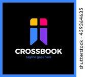cross bookmark logo. bible book