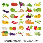 fruits and vegetables.... | Shutterstock .eps vector #439364824