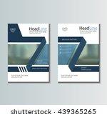 leaflet brochure flyer template ... | Shutterstock .eps vector #439365265
