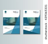 leaflet brochure flyer template ...   Shutterstock .eps vector #439365331