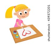 little cute artist. vector... | Shutterstock .eps vector #439372201