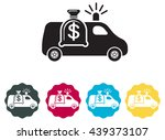 Atm Cash Van Icon