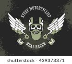 vector emblem retro... | Shutterstock .eps vector #439373371