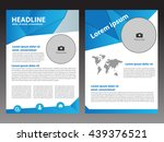 blue vector brochure flyer... | Shutterstock .eps vector #439376521
