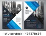 business brochure flyer design... | Shutterstock .eps vector #439378699