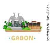 gabon country design template.... | Shutterstock .eps vector #439382194