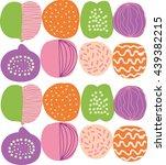 decorative fruit | Shutterstock .eps vector #439382215