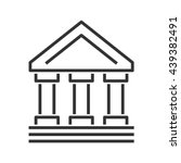 bank building line style icon | Shutterstock .eps vector #439382491