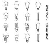 fluorescent light lamp icons... | Shutterstock .eps vector #439385035