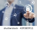cybersecurity of network of... | Shutterstock . vector #439385911