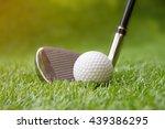 golf swing shot on course in... | Shutterstock . vector #439386295