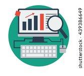 website rankings flat style... | Shutterstock .eps vector #439386649
