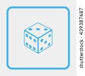 dice icon. | Shutterstock .eps vector #439387687