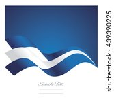 greece abstract ribbons flag... | Shutterstock .eps vector #439390225