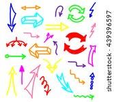 set of colorful marker hand... | Shutterstock .eps vector #439396597