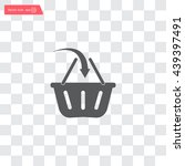 vector shopping basket icon | Shutterstock .eps vector #439397491