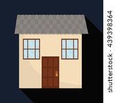 family house. home icon with... | Shutterstock .eps vector #439398364