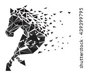 horse particles icon design  ... | Shutterstock .eps vector #439399795