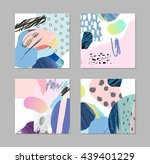set of cards and posters with... | Shutterstock .eps vector #439401229