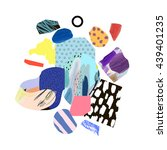 trendy creative collage with... | Shutterstock .eps vector #439401235