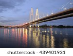 cable stayed bridge and neva... | Shutterstock . vector #439401931