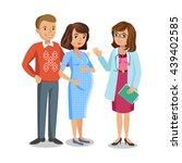 family visiting doctor in... | Shutterstock .eps vector #439402585