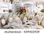 light hall of the big wedding... | Shutterstock . vector #439402939