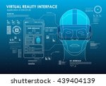 hud portable virtual reality... | Shutterstock .eps vector #439404139
