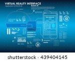 hud portable virtual reality... | Shutterstock .eps vector #439404145