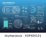 hud portable virtual reality... | Shutterstock .eps vector #439404151