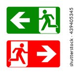 fire emergency icons. vector... | Shutterstock .eps vector #439405345