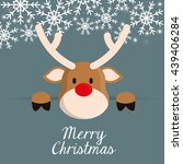 deer cartoon icon. merry... | Shutterstock .eps vector #439406284