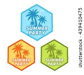 enjoy summer party banners  ... | Shutterstock .eps vector #439410475