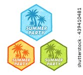 enjoy summer party banners  ... | Shutterstock . vector #439410481